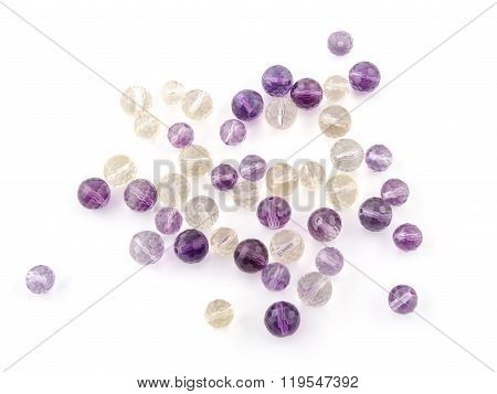 Ametrine Amethyst Beads In Purple, Violet And Yellow Colors