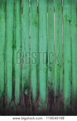 Shabby wooden planks, green