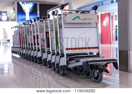 Luggage Carts Inside Airport