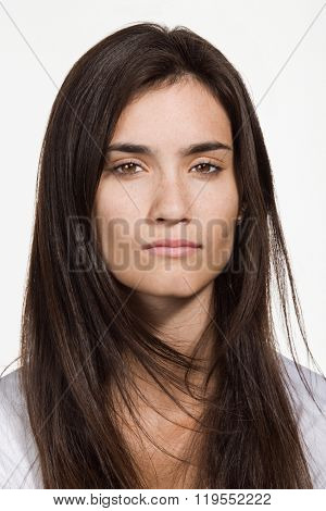 Portrait of young adult Caucasian woman