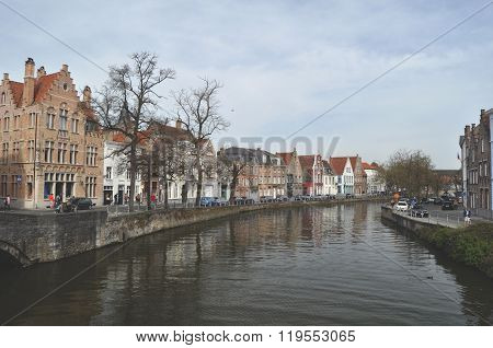 A panorama of beautiful Bruges In Belgium