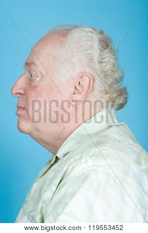 Profile of a senior man