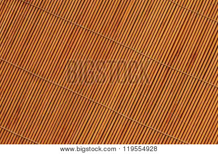 Bamboo Stick Straw Mat Texture Background