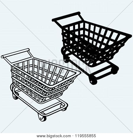 Shopping cart, grocery trolley