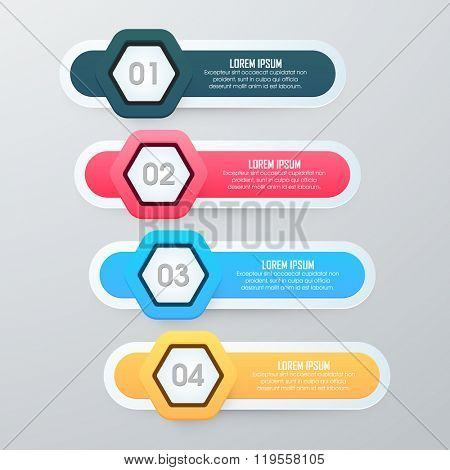Creative colorful Business Infographic layout in toggle button style for your professional presentation.