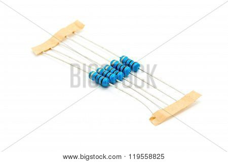 Resistors Isolated  On White Background