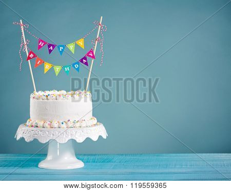 Birthday Cake With Bunting