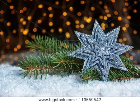 Star And Fir, Christmas Decoration