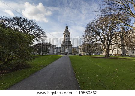 Dublin -january 12: Trinity College On January 12, 2015, Dublin.