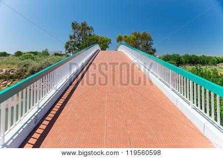 Pedestrian Bridge In Wolf Valley (vale Do Lobo), Algarve, Portugal