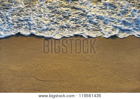 Golden Sea Waves