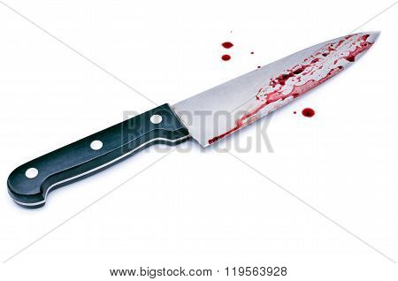 Chef's knife with Dripping blood