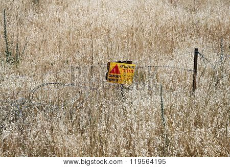 Minefields In The Golan Heights