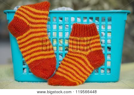 Socks Knitted For The Kid