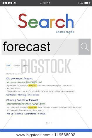 Forecast Future Planing Prediction Strategy Estimate Concept