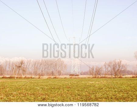 Trasmission Line Tower Vintage