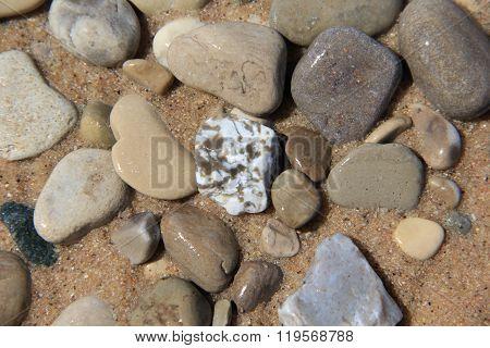 Rocks on the beach.  Sleeping Bear Dunes National Lakeshore, Michigan