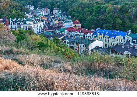 Top View Of The Historical Center Of Kiev. Ukraine