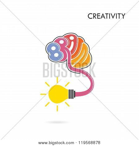 Creative Brain Abstract Vector Logo Design Template. Corporate Business Industrial Creative Logotype