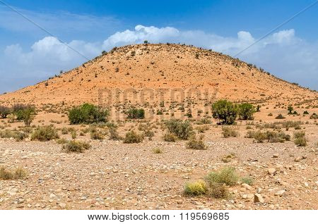 Beautiful view to a sand hill in desert