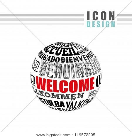 welcome icon design