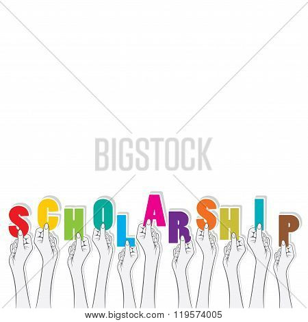 scholarship text banner design