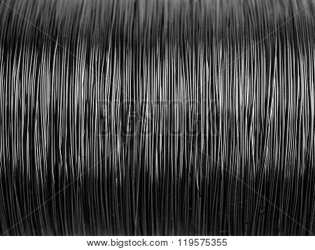 Black And White Pattern Of Metal Wire