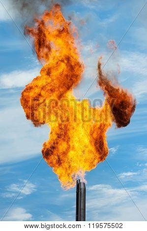 Gas torch.