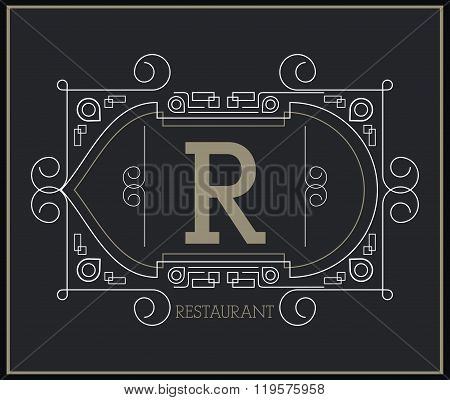 Monogram icon design