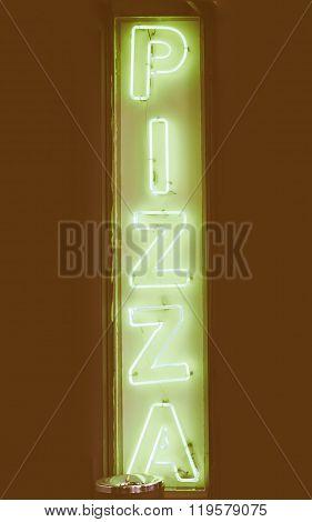 Pizza Sign Vintage