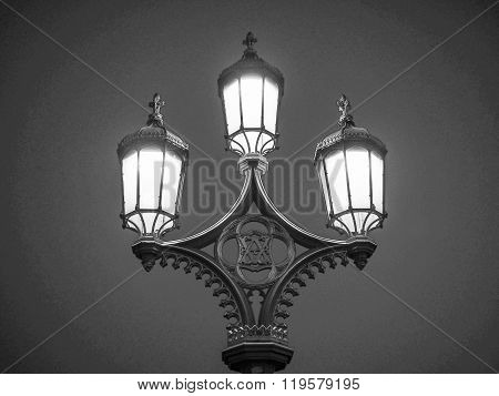 Black And White Street Lamp