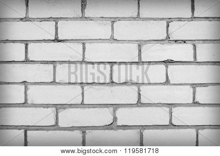 Wall of white brick
