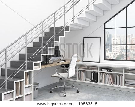 Workplace Under The Stairs
