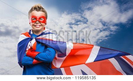 English Superhero With Mask