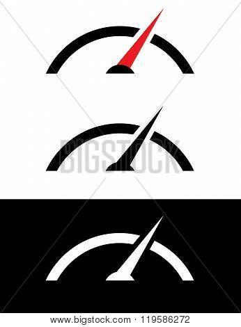 Vector Speedometer Graphic Set