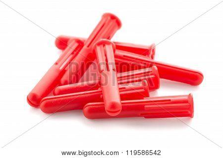 Red Plastic Dowels