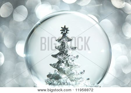 Snow globe with Christmas tree