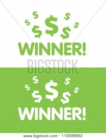 Vector Winner Graphic in Color and Reverse