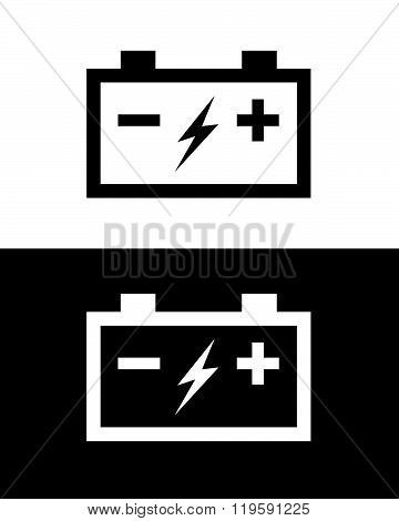 Vector Car Battery Set in Black and Reverse