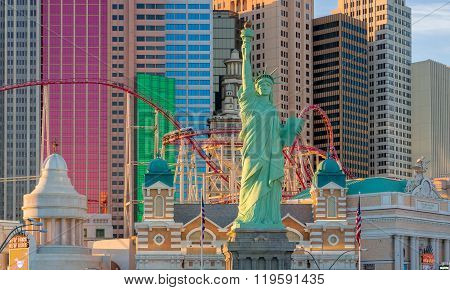 Statue Of Liberty At New York-new York Hotel And Casino