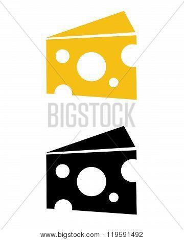 Vector Swiss Cheese Block