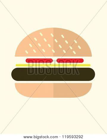 Vector Hamburger Graphic