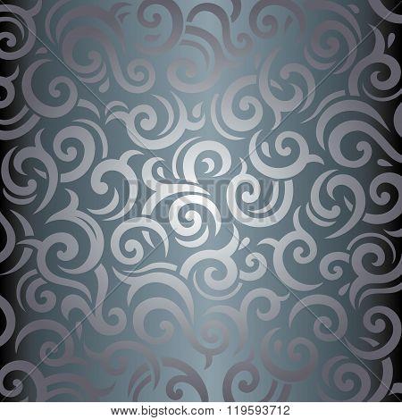 Silver luxury vintage background