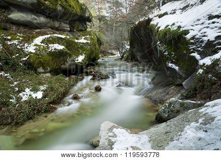 River Between Rocks