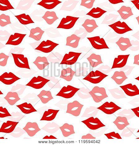 Seamless Lips Background, Vector Illustration