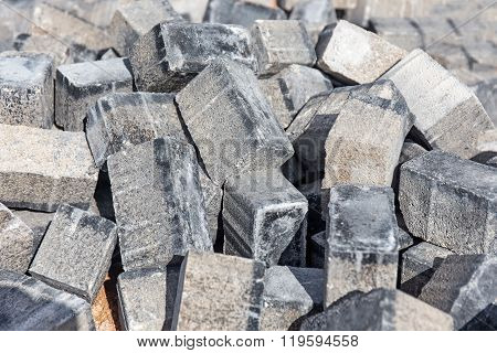 Pile Of Paving Stone. Ready For Construction