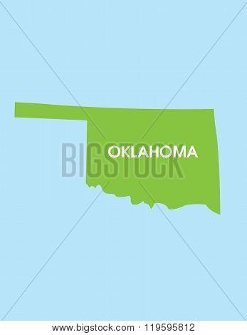 Vector Map of Oklahoma USA