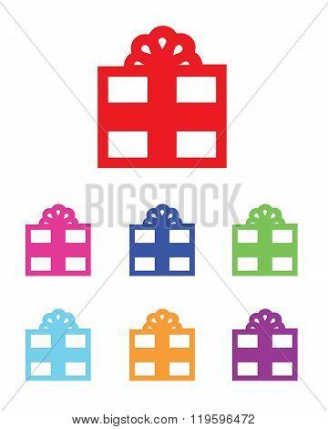 Colorful Vector Present Icon Set