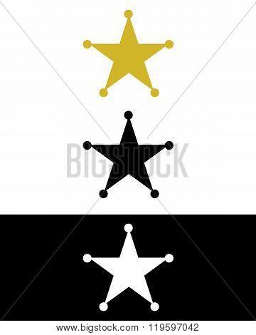 Vector Sheriff Badge Set