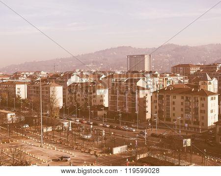 Aerial View Of Turin Vintage